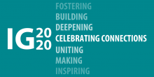 """A special graphic commemorating the Improve Group's 20th Anniversary, featuring the IG2020 logo and the words """"Celebrating Connections"""""""